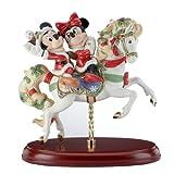 Disney 'Mickey Navidad Caballo de carrusel' Edición Limitada Figura Decorativa con Detalles de Oro Pintura