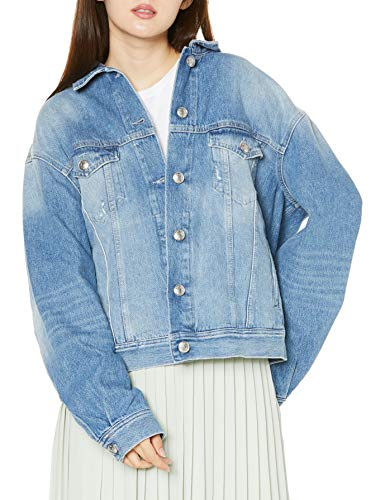 Replay Damen W311O .000.108 600 Jeansjacke, Blau (Super Light Blue 11), Large (Herstellergröße: L)