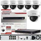 Hikvision DS-7608NI-E2/8P 8CH POE NVR & 6pcs DS-2CD2142FWD-I 2.8mm 4MP POE Dome Camera Kit