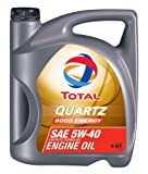 Total Quartz 9000 Energy 5W-40 Interior Negro Cargador de Dispositivo móvil, 5 QT