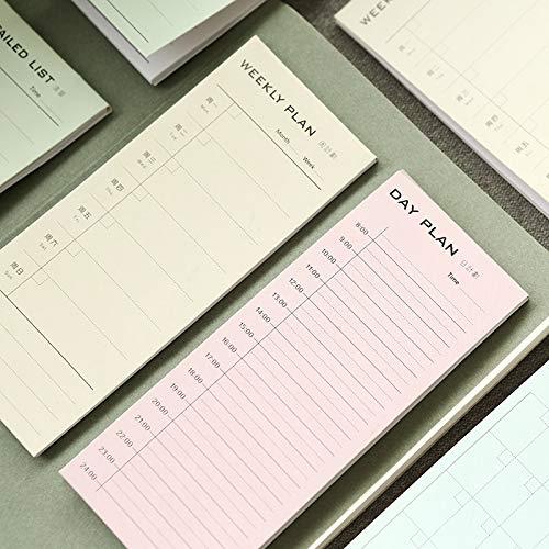 BLOUR Nuevo Escritorio planificador Diario semanal Dibujos Animados Notas Adhesivas Pegatinas Papel papelería Coreana Lista de tareas Suministros de Oficina