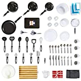 65+ Piece Kitchen Starter Kit for Home Movers, Students, Expats - Non-Stick Pan Set, Kitchen Tools, Cooking Utensil, Tableware, Baking Tray, Cookware, Dinnerware Set (Standard)