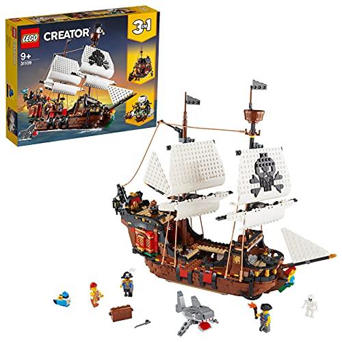 LEGO 31109 Creator 3-in-1 Piratenschiff, Taverne oder Totenkopfinsel Spielset