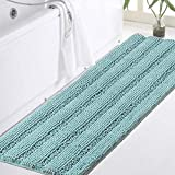 Turquoize Bathroom Runner Extra Long Bathroom Rug Blue Chenille Bath...
