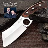 Hibben Legacy Bloodwood Cleaver Knife and Sheath - 5CR15MoV Stainless Steel...