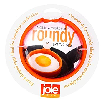 MSC International FBA_50600 50666 Joie Eggy 3.5  Non-Stick Silicone Compact Egg Ring with Folding Handle Orange