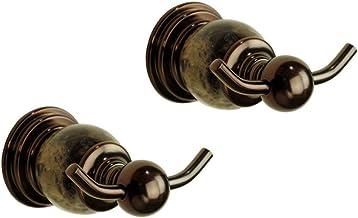 Brass Double Robe Hook Wall Mounted for Bathroom Bedroom,Towel Door Hook Coat Hook Clothes Hook, Solid Brass with Luxuriou...
