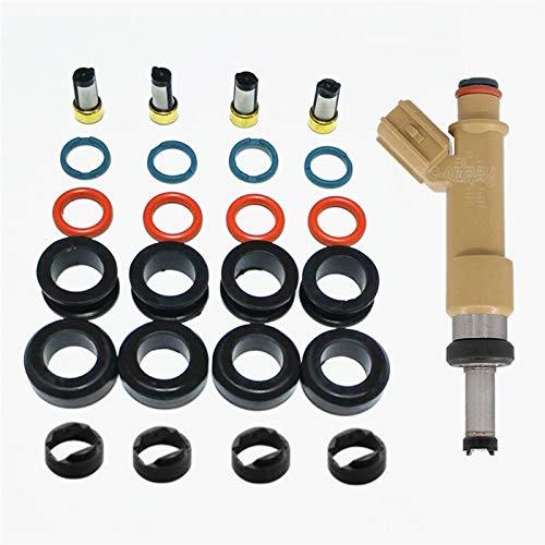 4sets Kraftstoffeinspritzdüse-Reparatursatz Service Kits for To-yo-ta Pr-ius ZXW30# 23250-37010 (AY-RK118)