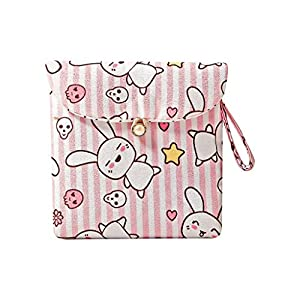 Ktyssp Cartoon Reusable Washable Wet Bag Sanitary Napkin Sanitary Napkin Storage Bag