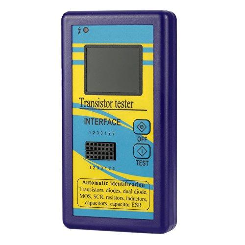 Transistor Tester, KKmoon Multi-functional Transistor Tester 128160 TFT Color Display Diode Thyristor Capacitance Resistor Inductance MOSFET ESR LCR Meter