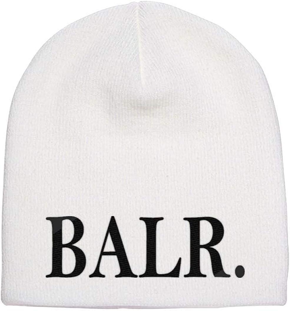 Beanie Hat B A L R Logo Knit Hat Beanie Embroidered Skullies Beanies Unisex Beanie Cap Knitted Winter Hat Beanie for Men & Women White