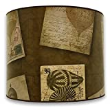 Royal Designs Modern Trendy Decorative Handmade Lamp Shade - Made in USA - Vintage Post Card and Old World Map Design - 10 x 10 x 8