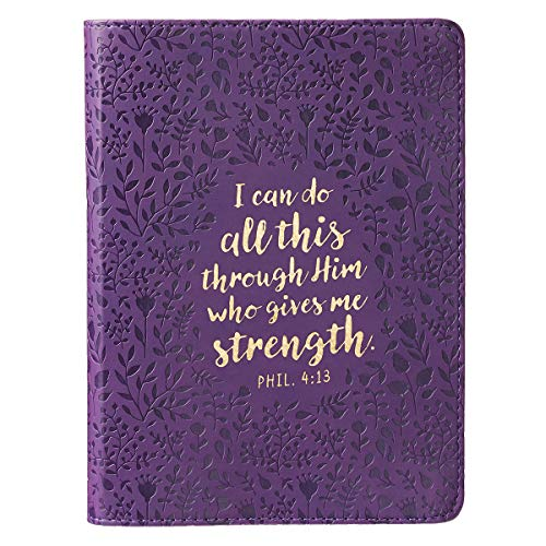 Journal Lux-Leather I Can Do All This, Purple
