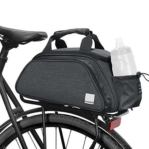 Lixada 13L Bolsa de Equipaje de Asiento de Bicicleta Expandible Bolsa de Sillín Reflectante de Gran Capacidad Bolsa de Bici de Montaña Bolsa de Asas