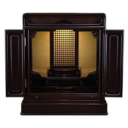 【お仏壇のはせがわ】 仏壇 モダン コンパクト 和室 GD トーシ ダルマ 古都 LED 18
