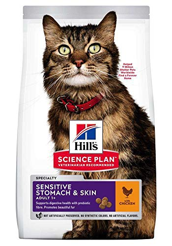 Hills Feline Adult Sensitive Stomach & Skin | 1.5kg Katzenfutter