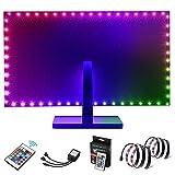 Kohree LED Lichterkette Lichtband LED Strip RGB 2x50cm SMD5050 Streifen mit Fernbedienung LED...