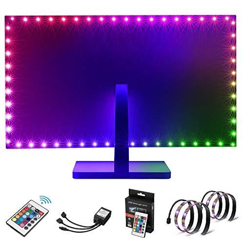 Kohree LED Lichterkette Lichtband LED Strip RGB 2x50cm SMD5050 Streifen mit Fernbedienung LED Stripes Lichterkette Band Selbstklebende Leiste für Zuhause, Schlafzimmer, TV, Schrankdeko, Farbwechsel