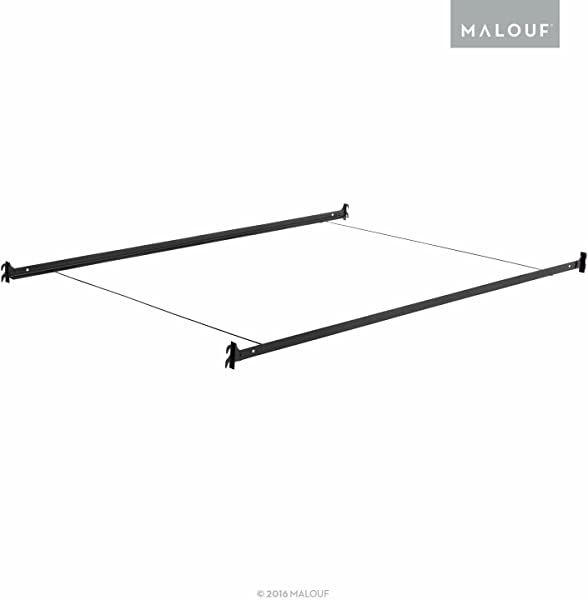 MALOUF Structures Hook In Metal Bed Rail System With Cross Wires Queen