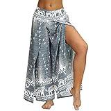 Truwelby Womens Boho Harem Hippie Bohemian Pilates Yoga Pants Casual Beach Workout High Waisted Wide Leg Pants