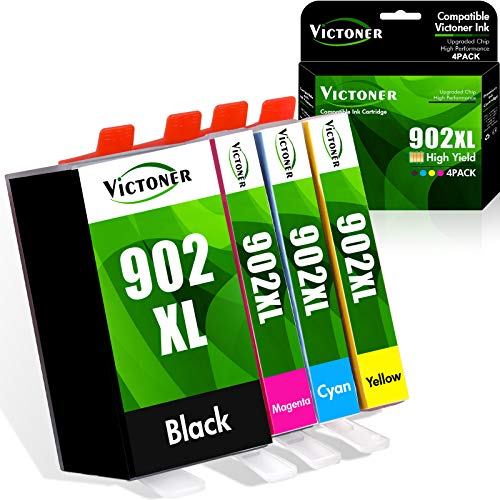Victoner Compatible Ink Cartridge Replacement for HP 902XL 902 XL Ink...