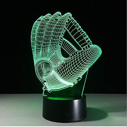 Touch kleurverandering LED nachtlicht sfeerlamp 3D baseballhandschoen acryl slaapkamer verlichting decoratie rugby handschoenen nachtlicht remote telefoon Bluetooth control kleur