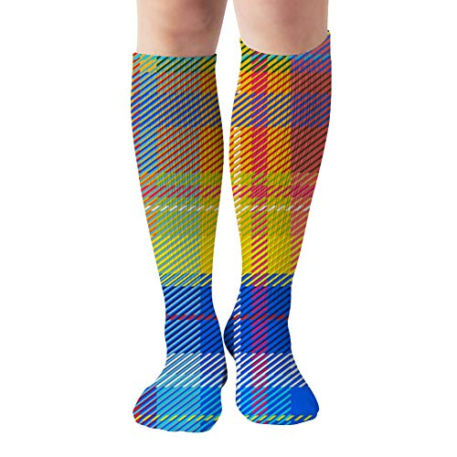 Classical Shirt Checkered Plaid Beauty Fashion Compression Socks Women And Men,Best For Nurses,Travel,Pregnancy,19.68 Inch