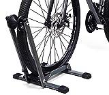 LYCAON Soporte de Suelo para Bicicleta (Último Gris), Aparcamiento para Bicicleta Plegable y Portátil - Classic