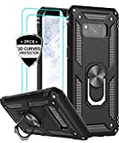 LeYi Samsung Galaxy S8 Plus Case with 3D PET Screen Protector [2 Pack], [Military-Grade] Shock Absorption Defender Protective Phone Case with Car Holder Mount Kickstand for Samsung S8 Plus JSFS Black