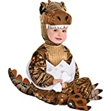 Party City T-Rex Hatchling Halloween Costume for Babies, Jurassic World, 12-24M, Includes Jumpsuit, Hood, Tail and More