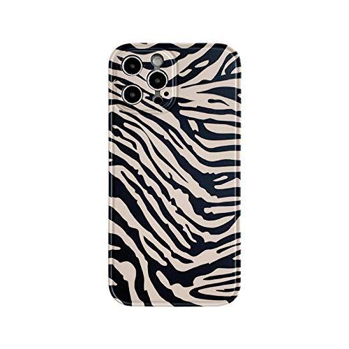 who-care Carcasa de silicona suave para iPhone 12 Mini 11 Pro Xs Max X Xr 7 8 Plus Se 2020 con diseño de leopardo de cebra