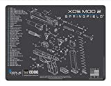 EDOG XDS MOD 2 Gun Cleaning Mat - Schematic (Exploded View) Diagram Compatible with Springfield Armory Xds Mod2 Series Pistol 3 mm Padded Pad Protect Firearm Magazines Bench Surfaces Gun Oil