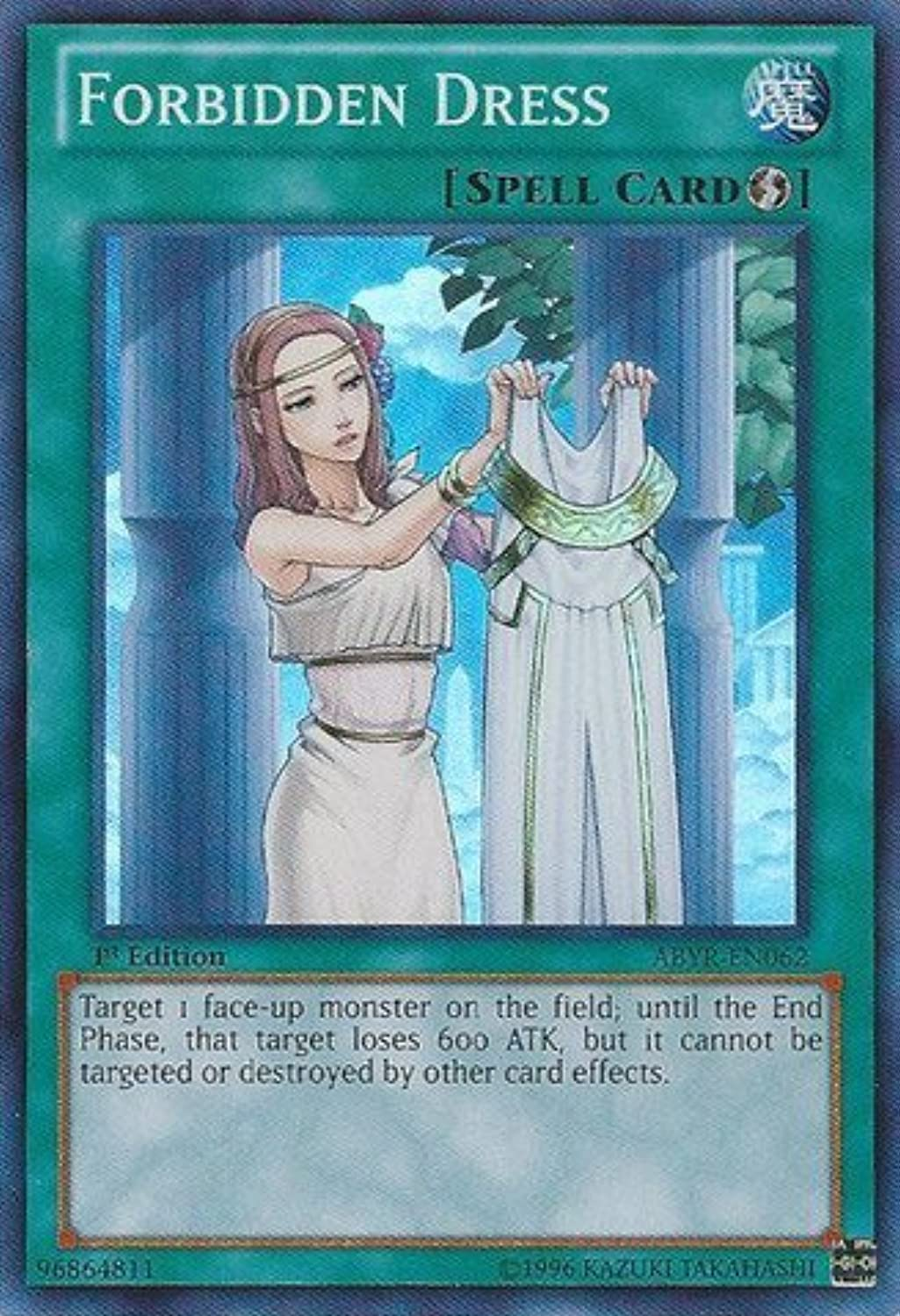 YuGiOh   Forbidden Dress (ABYREN062)  Abyss Rising  1st Edition  Super Rare by YuGiOh