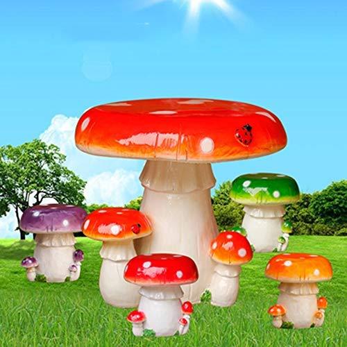 Lsmaa Sgabelli e sedie Colorate Funghi Sculture in Fibra di Vetro Giardino for Esterni Patio Decorazione Prodotti Decorazione Casual del Fumetto (Colore: J) (Color : J)