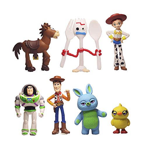 7 PCS Toy Story Cake Toppers Figurines toy story Cupcake topper Toy Story Party Figurines Cartoon Action Figures cake…