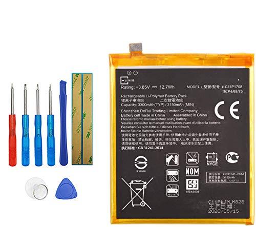 E-YIIVIIL Batería de repuesto C11P1708 compatible con ASUS ZE620KL, ZenFone 5 2018,...