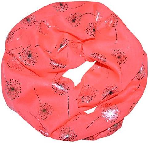 thb Richter Loopschal Rundschal mit Pusteblume Muster Schlauchschal Schals Halstuch Loop Natur Pusteblumen Blumen Print Aufdruck