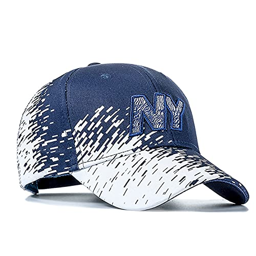 Liaiqing Gorra de béisbol Hombres y Mujeres Degradado Color Letra Bordado Hip Hop Deportes al Aire Libre Pato Talla de Pesca (Color : Navy Blue, Size : One Size)