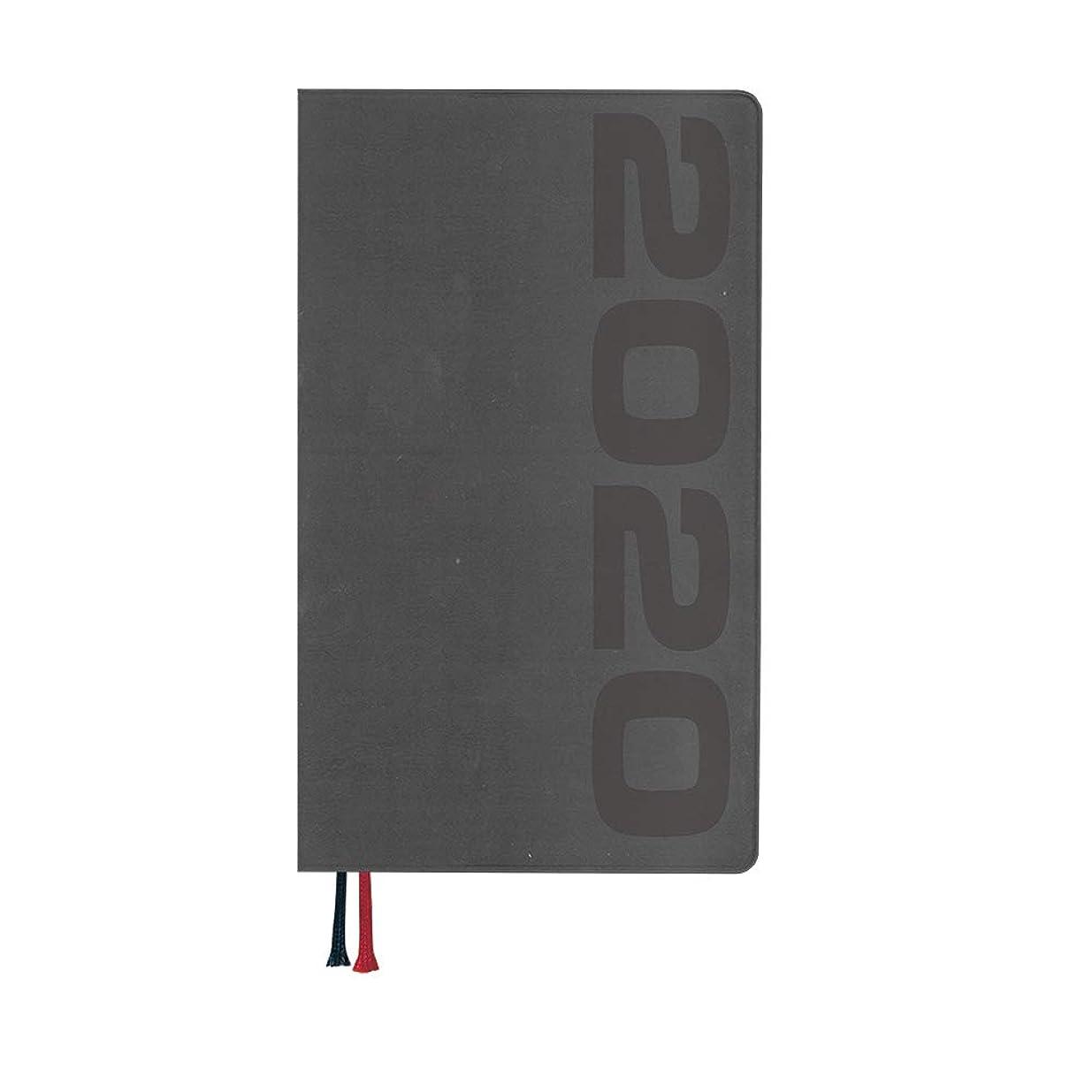 雰囲気等動力学ダイゴー 手帳 2020年 アポイント マンスリー 薄型 ブラック E1371 2019年 12月始まり