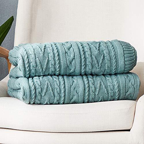 Manta de lana rosa, manta de forro polar súper cálida de algodón para cama y sofá, manta informal de microfibra para el almuerzo, manta europea retro de otoño e invierno