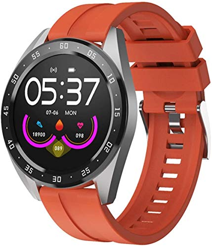 Reloj inteligente con pantalla de 1 3 pulgadas, monitor de actividad física, podómetro, mensaje, recordatorio inteligente, IP67, impermeable, 170 mAh-naranja/silicona