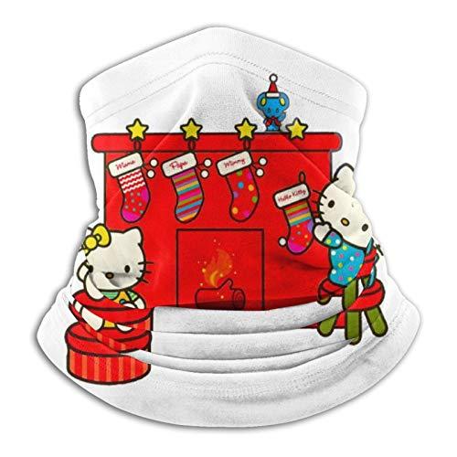 ZVEZVI Hello Kitty Hängende Weihnachtsstrümpfe am Kamin Winddichte Schal Stretch Handtuch Waschbare Sturmhaube für Frauen