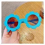 TUEWDFSA Gafas de Sol Niños Estrella Dibujos Animados Colores Redondos Gafas de Sol bebé niña niño uv400 Gafas al Aire Libre niños Verano Playa Vacaciones vidrios Producto al Aire Libre
