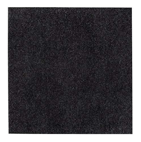 andiamo Teppichfliesen selbstklebend Teppichboden Bodenbelag Nadelfilz Fliese 40 x 40 cm - Set, Farbe:Anthrazit, Größe:16 m²