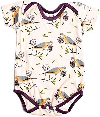 Charley Harper Recommendation Girls' Passenger Classic Onesie Pigeon Off-White