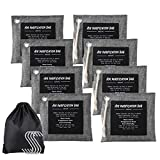 Helper Bamboo Charcoal Air Purifying Bag (8Pack) Long Lasting Activated Charcoal Deodorant Charcoal Bag Household Car Closet Pets Office Basement Fresh Air Air Purifier Bag 8x200g