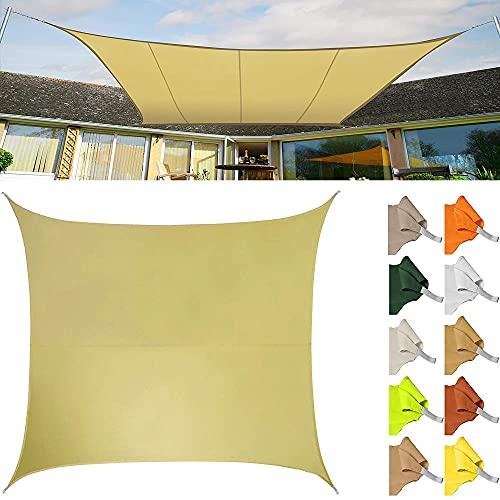 Toldo Vela de Sombra Rectángulo, Vela de Sombra Protección UV para Patio, Exteriores, Jardín-Beige_3X4(m)