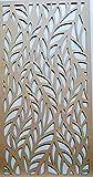 LaserKris Rejilla decorativa para pared del armario del radiador, panel de MDF perforado (4 x 2) L4