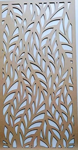 LaserKris L4 Heizkörperschrank, Wanddekoration, perforierte MDF-Platte, 4 x 2 cm