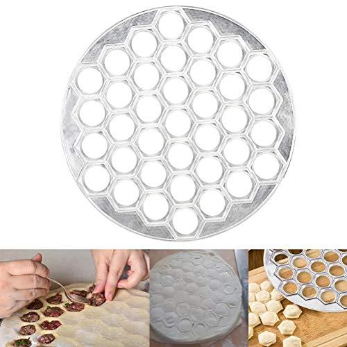 Yeyll - Molde para hacer raviolis ruso para hacer albóndigas - Pelmeni Maker - Moldeo de metal Pelmeni - Pelmeni albóndigas de carne - Máquina de masa de pelmeni siberiano - Máquina de moldes